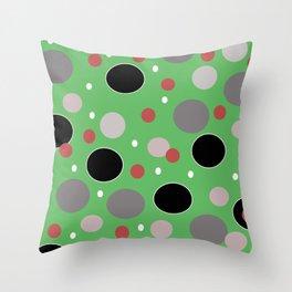 Polka Dotty: Mint Throw Pillow