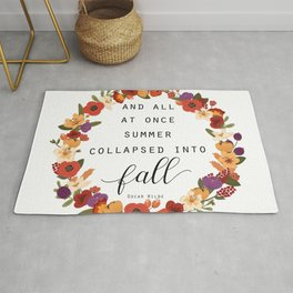 And All At Once Summer Collapsed Into Fall Rug