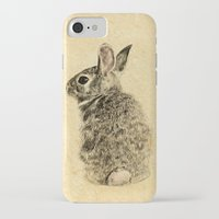 rabbit iPhone & iPod Cases featuring Rabbit by Anna Shell