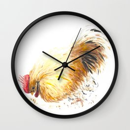 Farmhouse Rooster Wall Clock