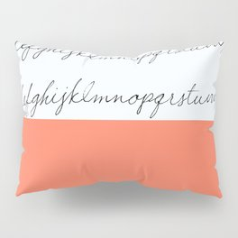 Alphabet-Coral  Pillow Sham