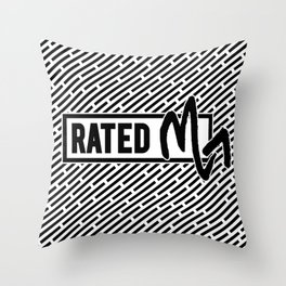 Rated M for Scorpio Throw Pillow