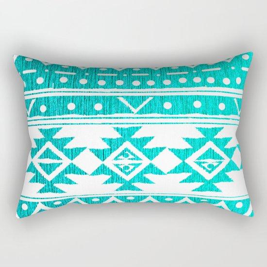 AQUAMARINE TRIBAL  Rectangular Pillow