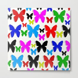 Butterfly Pretty Colors Pattern Metal Print