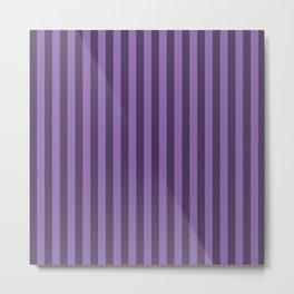 Amethyst Purple Stripes Pattern Metal Print