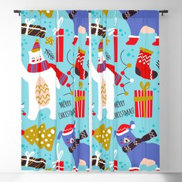 ho ho christmas pattern Blackout Curtain