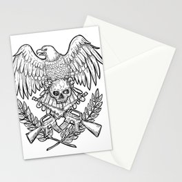 Eagle Skull Assault Rifle Drawing Stationery Cards