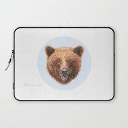 Brown Bear portrait Laptop Sleeve