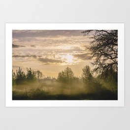 Sunrise in Woodburn Art Print
