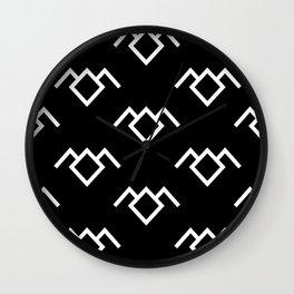 Twin Peaks Owl Petroglyph in Black Lodge Wall Clock