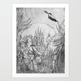 The underwater world Art Print