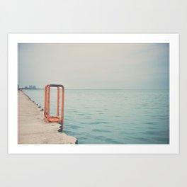 the orange steps ... Art Print