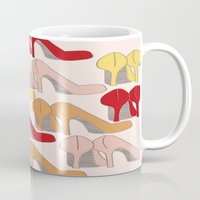 heels Mugs featuring High Heels by Helen Voice Designs