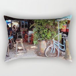 Blue Bicycle Rectangular Pillow