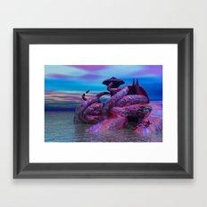 sea city Framed Art Print