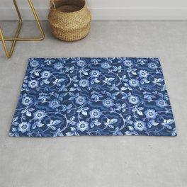 Blue floral pattern Rug