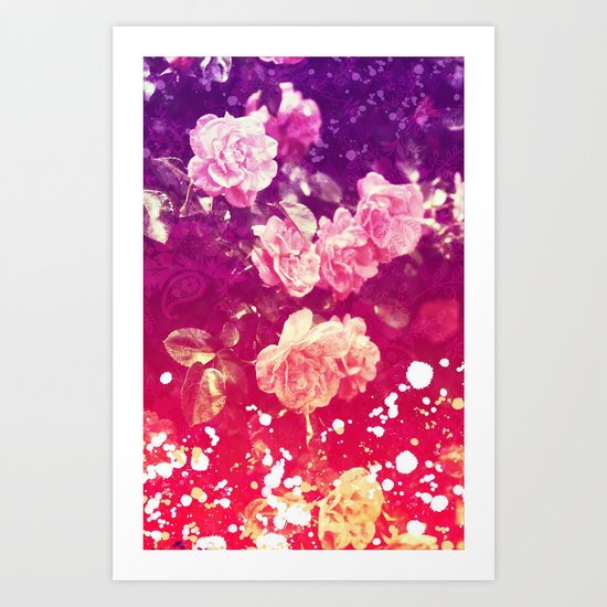 Painted Roses - for iphone Art Print