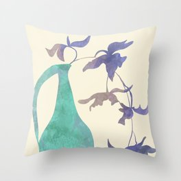 vases flow stillife minimal abstract Throw Pillow
