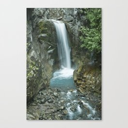 Waterfall on Mt. Rainier Canvas Print