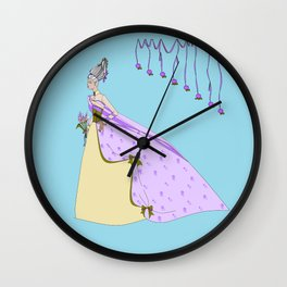 A Lavender Rose Bride with Bouffant Hair Wall Clock