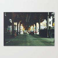 gotham Canvas Prints featuring Gotham by Lily Ly