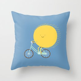 cycle of the sun Throw Pillow