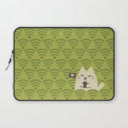 Wifinimals - Cat in the Field of WiFi Laptop Sleeve