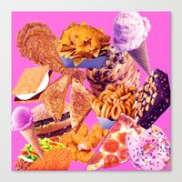 junk food Canvas Prints featuring Junk  by ♡♡Transparent Mess♡♡