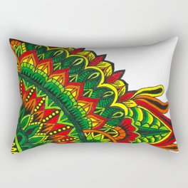 Tribal Corner Mandala Rectangular Pillow