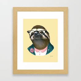 Sloth Lady art print by Ryan Berkley Framed Art Print