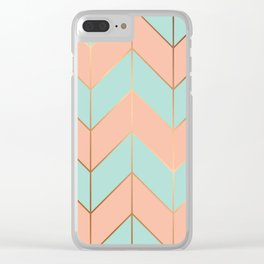 Marble Geometry 059 Clear iPhone Case