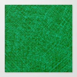 Scratched Green Canvas Print