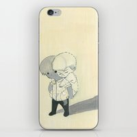 backpack iPhone & iPod Skins featuring invisible backpack by Valeria Bertolini