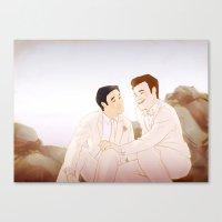 klaine Canvas Prints featuring Klaine Wedding Series 1 by rocketssurgery