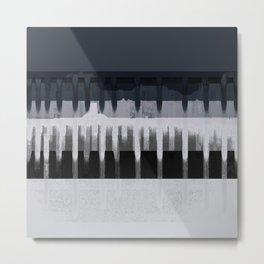 White Wash, Dark Alleys, Blue Wharf Metal Print