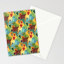Monkey Pattern Stationery Cards