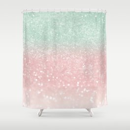 Pastel Summer Glitter #1 (Faux Glitter - Photography) #shiny #decor #art #society6 Shower Curtain