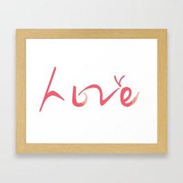 """""""Love"""" Design in English & Korean Framed Art Print"""