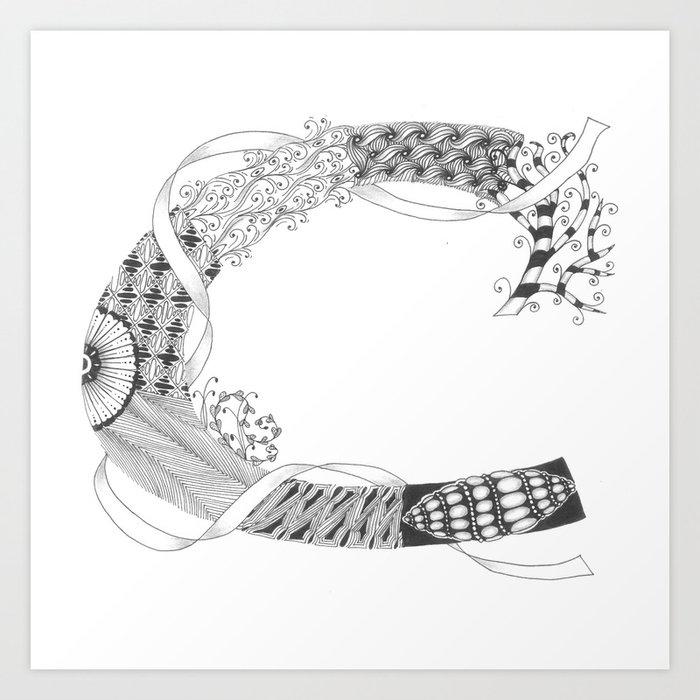 "Zenletter ""C"" Art Print"