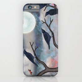 crows, moths, moon iPhone Case