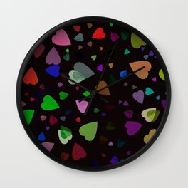 Tilia colorful abstract design Wall Clock