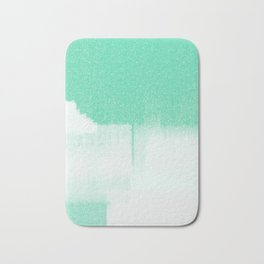 popular modern aqua blue Scandinavian brush stroke abstract art print Bath Mat