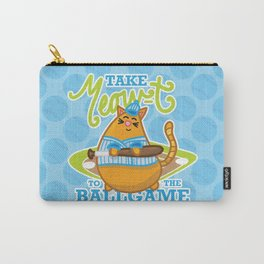 Take Meowt to the ball game!  Carry-All Pouch