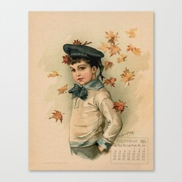 American Boy Maud Humphrey 1891 Canvas Print