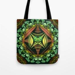 Tribal patterns mandala with fisheye effect Tote Bag