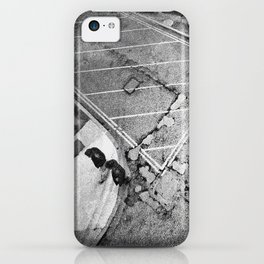 LONDON STREET BLACK AND WHITE PHOTOGRAPH iPhone Case