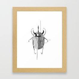 Hybrid dynastinae of a flying rhino Framed Art Print