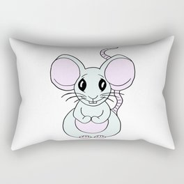 Friendly drawn mouse for children and adults Rectangular Pillow