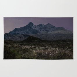 Mountains of Scotland at evening Rug