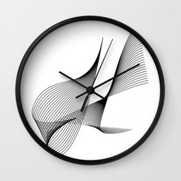 """Linear Collection"" - Minimal Letter H Print Wall Clock"